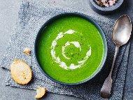 Рецепта Крем супа от грах от консерва с прясно мляко
